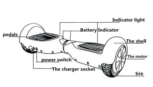 2 Wheel Hover board Smart Self Balancing Scooter,
