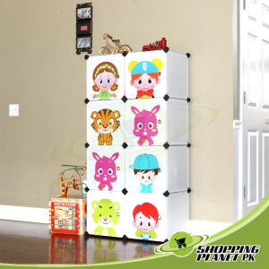 Folding Cabinet With Cartoon Door For Kids