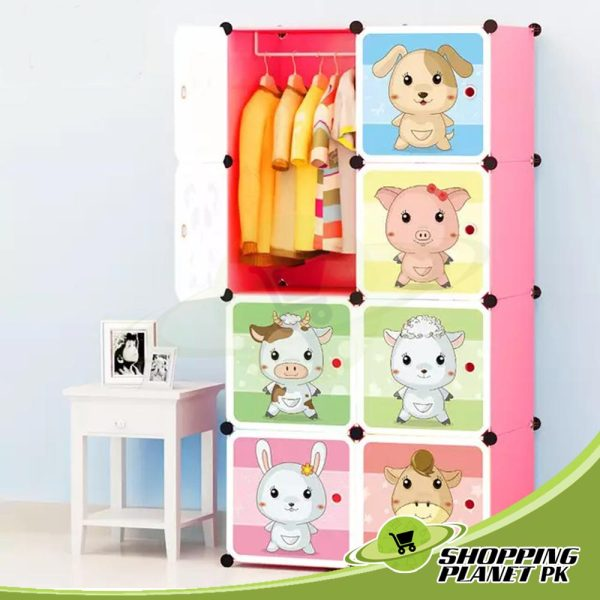 Folding Cabinet With Cartoon Door For Kidss