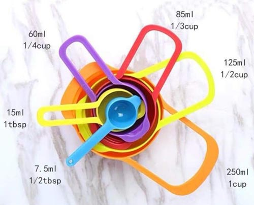 Measuring Cups & Spoons Set For Kitchen