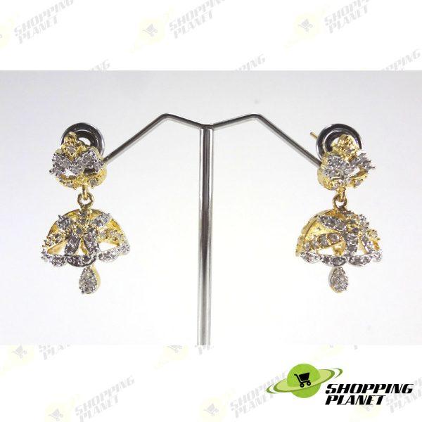 shoppingplanet_Jewllery_earrings_2_tone_zircon_053