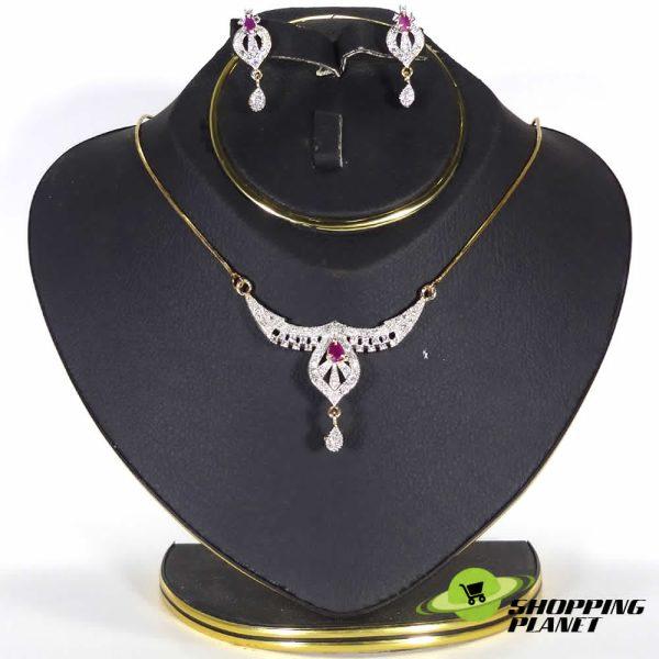 shoppingplanet_Jewllery_pendant_Sets_2_tone_zircon_029