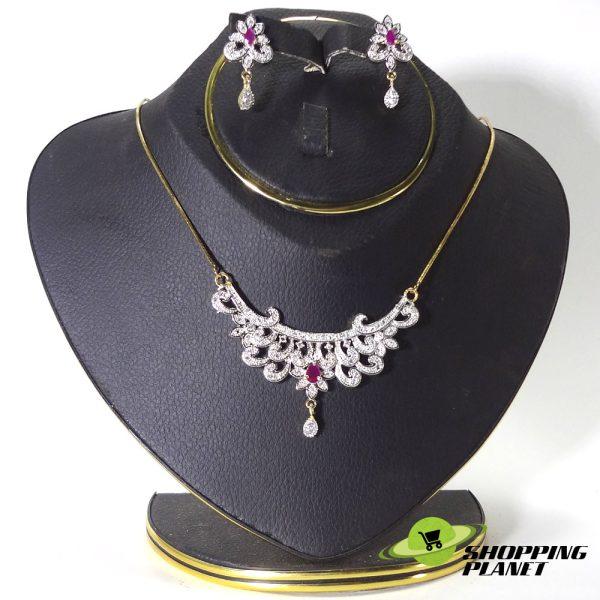shoppingplanet_Jewllery_pendant_Sets_2_tone_zircon_031