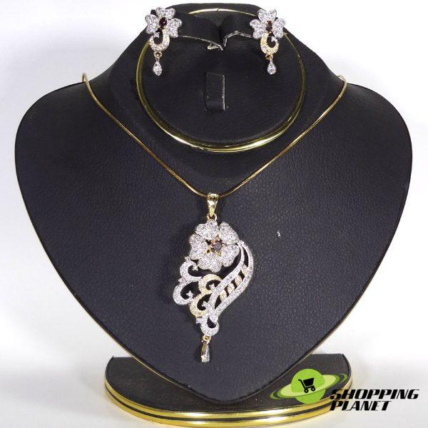 shoppingplanet_Jewllery_pendant_Sets_2_tone_zircon_036