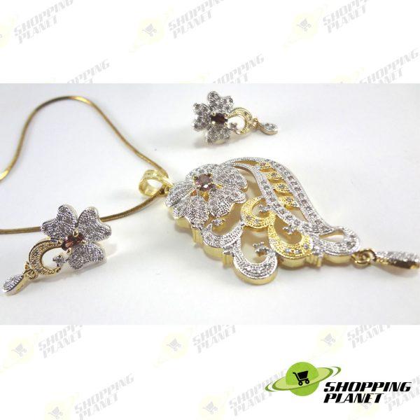 shoppingplanet_Jewllery_pendant_Sets_2_tone_zircon_037