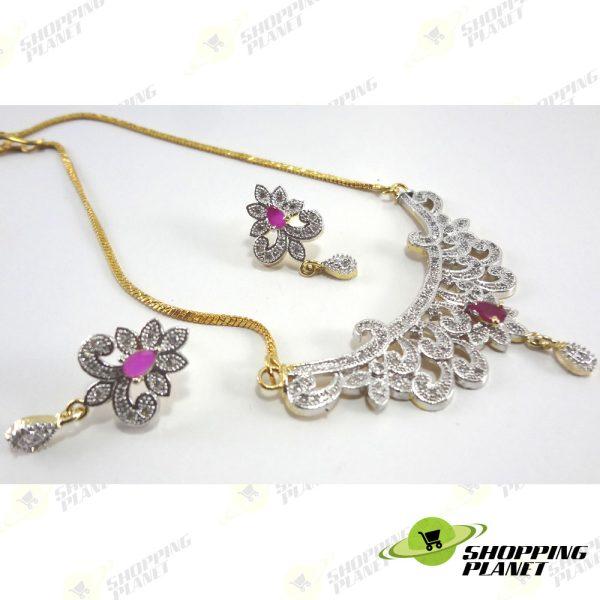 shoppingplanet_Jewllery_pendant_Sets_2_tone_zircon_040
