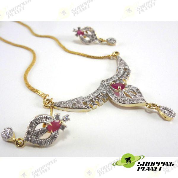 shoppingplanet_Jewllery_pendant_Sets_2_tone_zircon_043