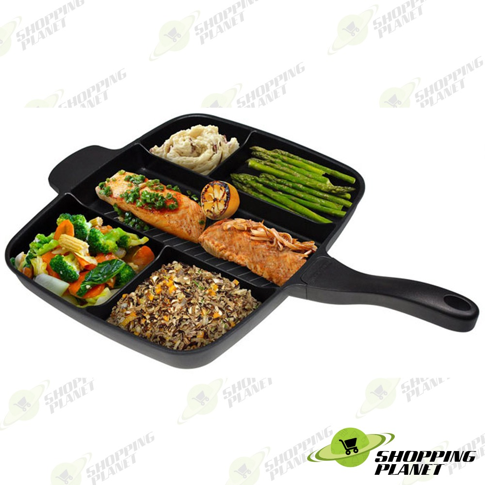 5 in 1 Non Stick Frying Grill Pan