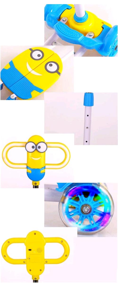 Four Wheels Minion Cartoon Kids Scooter