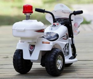 Kids Battery Operated Police Bike