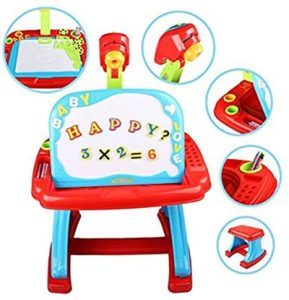 Projector Desk With Stool For Kids