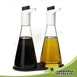 Oil and Vinegar Bottle Set For Kitchen