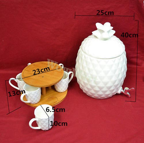 Ceramic Water Dispenser With Stand For Kitchen