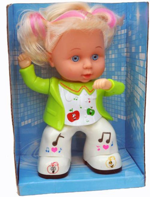 Cute Apple Girl Dancing Doll Toy For Kids