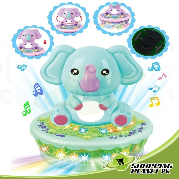 Cute Rotating Elephant Toy For Kid.