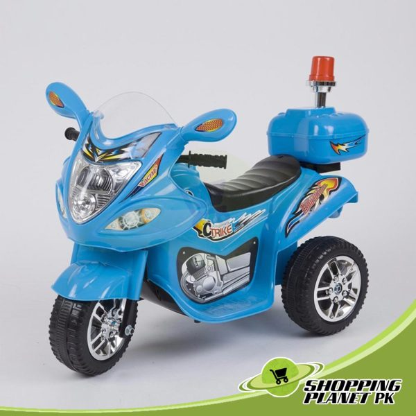 3 Wheel Battery Operated Police Bike For Kid