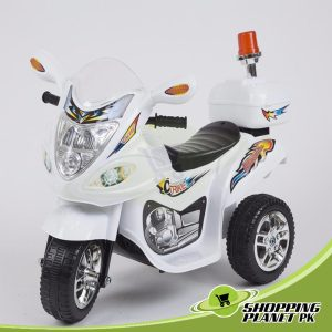 3 Wheel Battery Operated Police Bike For Kids
