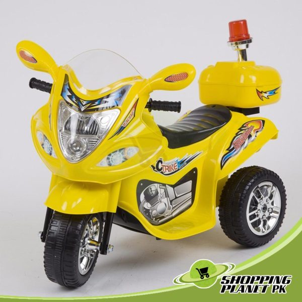 3 Wheel Battery Operated Police Bike For Kidss