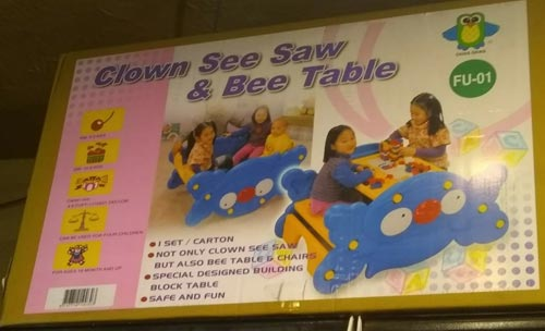 2 in 1 See Saw With Table For Kids