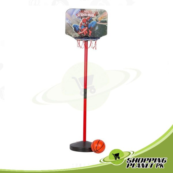 Spider-man Basketball With Stand Game For Kid