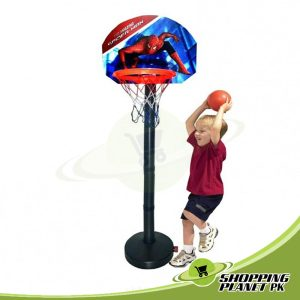 Spider-man Basketball With Stand Game For Kids
