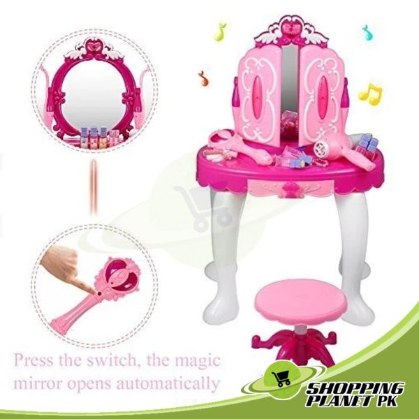 Glamour Mirror and Dressing Table Toy Kids