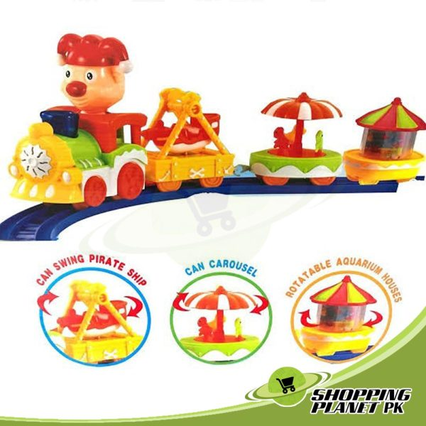 Cartoon Circus Trains Toy For Kids