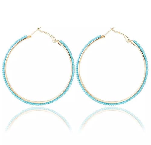 Hoop Beaded Earring In Pakistan