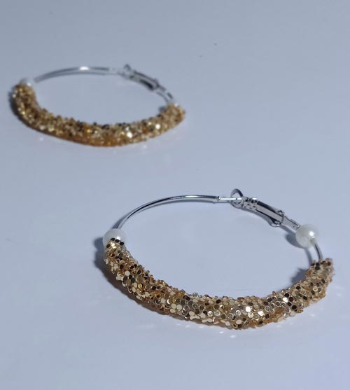 Hoop Glitter Earrings In Pakistan