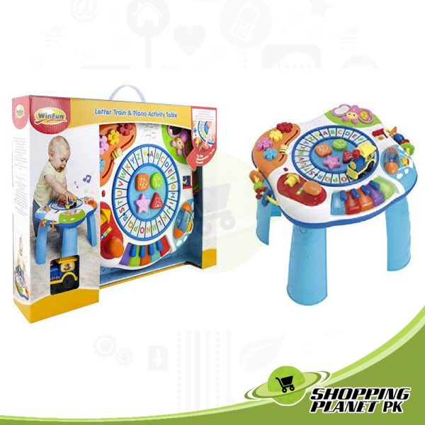 Letter Train And Piano Activity Table For Baby