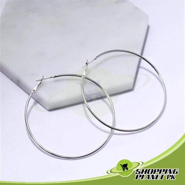 Round Hoop Earrings In
