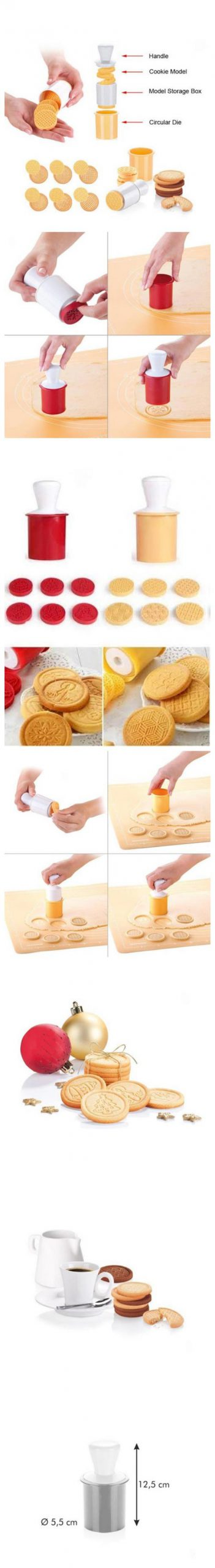 Tescoma Delicia Cookie Stamp 6 Patterns