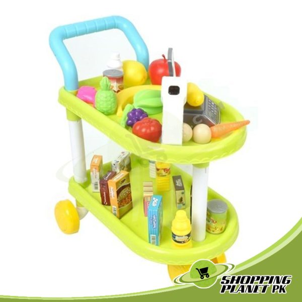 Fruit & Vegetable Kitchen Trolley Set Toy In Pakistans