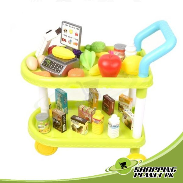 Fruit & Vegetable Kitchen Trolley Set Toy In Pakistans.