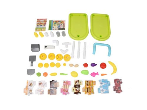 Fruit & Vegetable Kitchen Trolley Set Toy In Pakistan