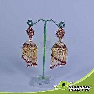 Long Jhumka Earrings artificial Jewelry In Pakistan