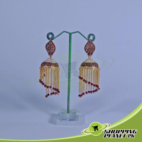 Long Jhumka Earrings artificial Jewelry In Pakistans