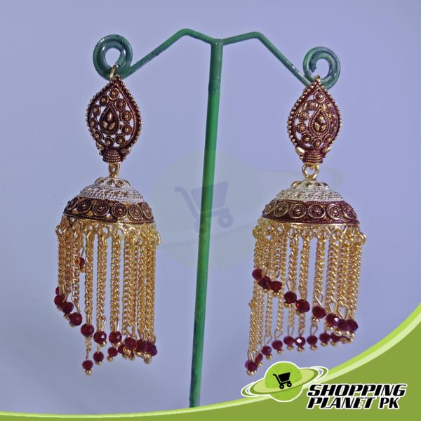 Long Jhumka Earrings artificial Jewelry In Pakistans.,.