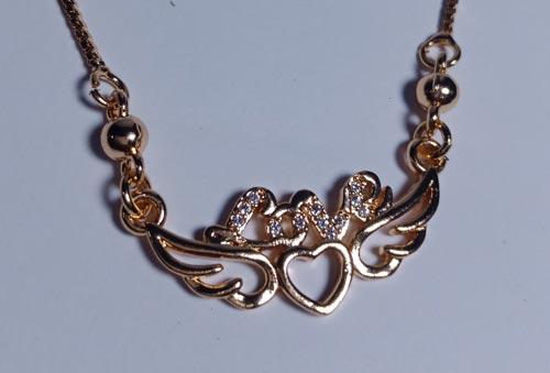 Love Pendant Chain Artificial Jewellery In Pakistan