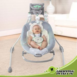 Ingenuity InLighten Cradling Swing And Rocker For Baby