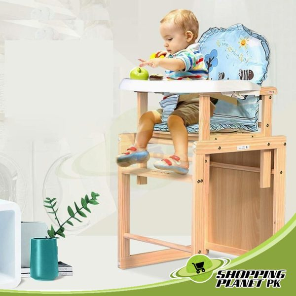 2 in 1 Wooden High Chair For Baby1