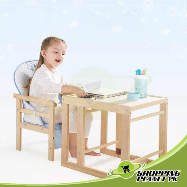 2 in 1 Wooden High Chair For Baby4