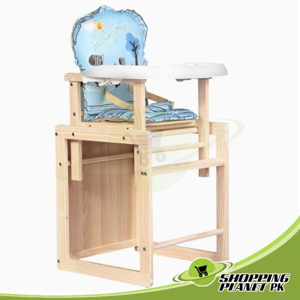 2 in 1 Wooden High Chair For Baby5