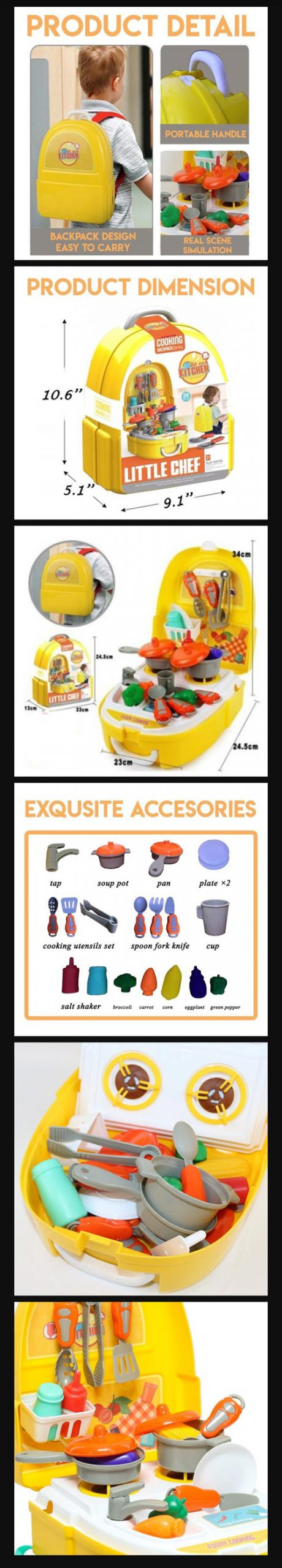 Little Chef Backpack Toy For Kids