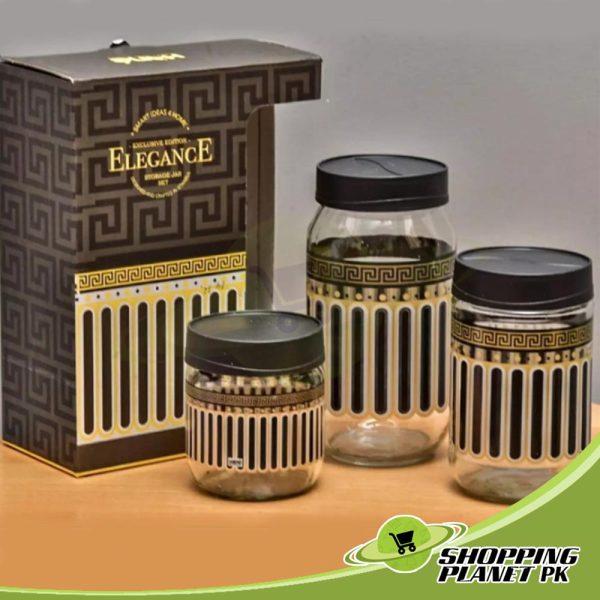 3 Piece Glass Jar Set1