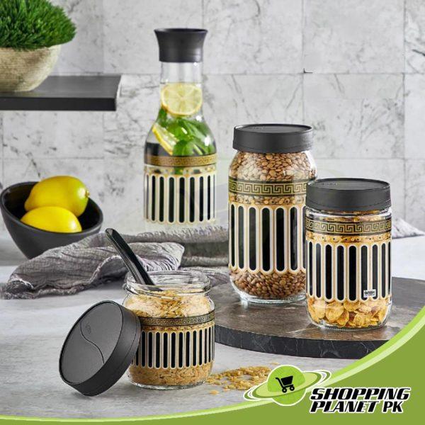 3 Piece Glass Jar Set3