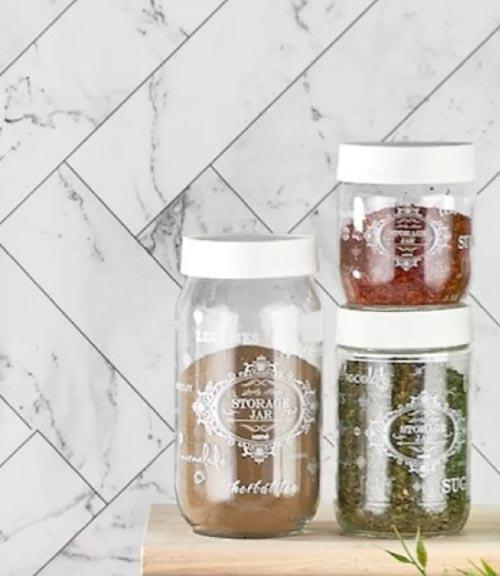 3 Piece Glass Jar Set