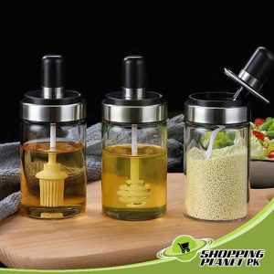 Spice Jar With Spoon For Kitchen