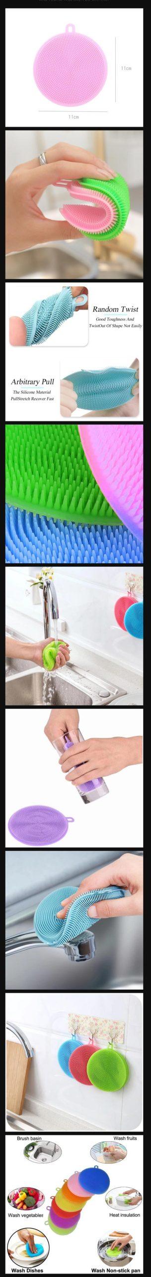 Silicone Dishwashing Pad