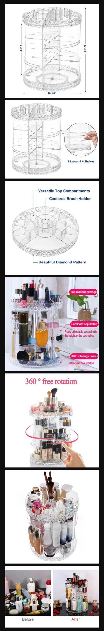 360 Plastic Cosmetic Organizer